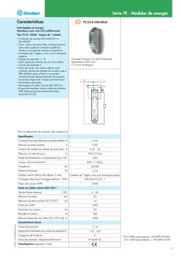 Características Série 7E - Medidor de energia