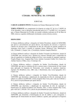 CÂMARA MUNICIPAL DA COVILHÃ