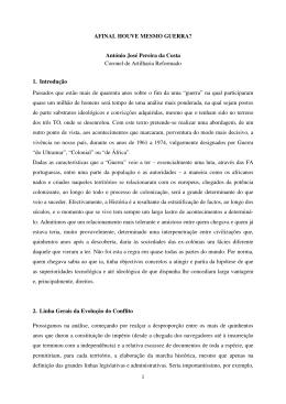 1 AFINAL HOUVE MESMO GUERRA? António José