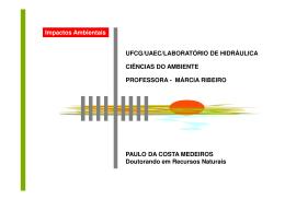 Impactos Ambientais UFCG/UAEC/LABORATÓRIO