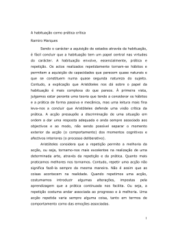 1 A habituação como prática crítica Ramiro Marques Sendo o