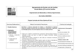 Agrupamento de Escolas Luís de Camões Escola Básica 2/3 Luís