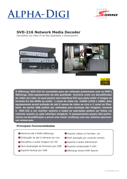SVD-216 Network Media Decoder
