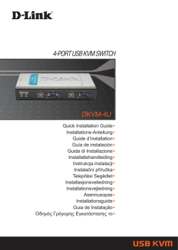 4-PORT USB KVM SWITCH DKVM-4U - D-Link