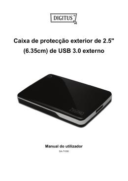 """Caixa de protecção exterior de 2.5"""" (6.35cm) de USB 3.0 externo"""
