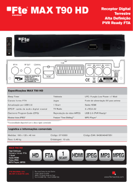 O PVR Ready FTA MAX T90 HD