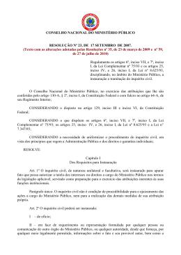 resolução nº 23, de 17 setembro de 2007