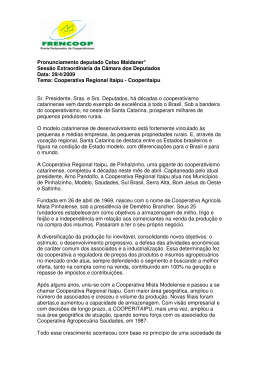 Pronunciamento deputado Celso Maldaner* Sessão