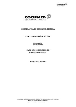 COOPERATIVA DE CONSUMO, EDITORA E DE CULTURA