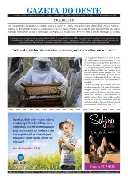 Jornal Gazeta do Oeste