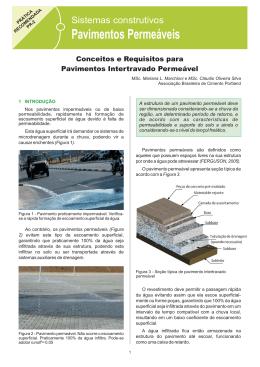 PR 2 – Conceitos e Requisitos para Pavimento