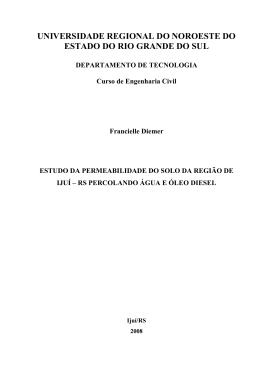 Estudo da Permeabilidade do Solo da Região de Ijuí-RS