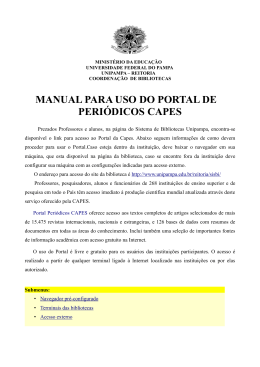 manual para uso do portal de periódicos capes - Pró