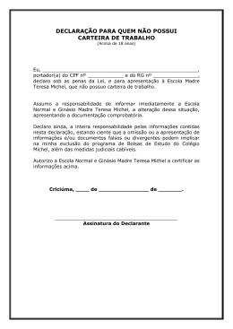 Modelo 01 declaração para quem não possui carteira de trabalho