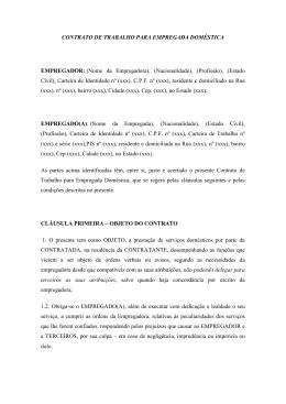 CONTRATO DE TRABALHO PARA EMPREGADA