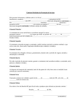 contrato de trabalho - Missão Diplomática dos Estados Unidos