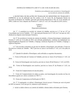 instrução normativa srt nº ____, de ______ 2010