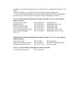 dfebcb66087 Candidatos que solicitaram isenção da taxa de inscrição por se