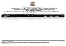 Anexo 04 - Resultado Final Preliminar dos candidatos que