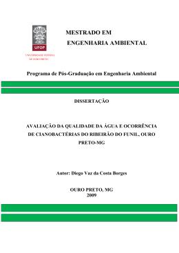 MESTRADO EM ENGENHARIA AMBIENTAL