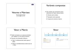 Vetor e Matriz - PHP