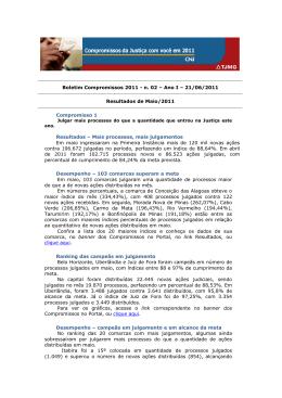 Boletim Compromissos 2011 - Tribunal de Justiça de Minas Gerais