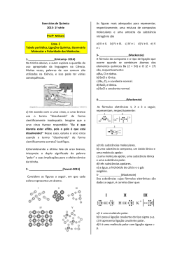 Exercícios de Química 2015- 1ª série Profª Miriam Lista