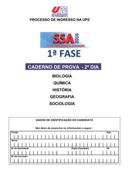 CADERNO DE PROVA - 2º DIA