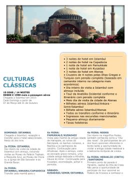 CULTURAS CLÁSSICAS