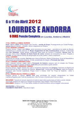LOURDES E ANDORRA