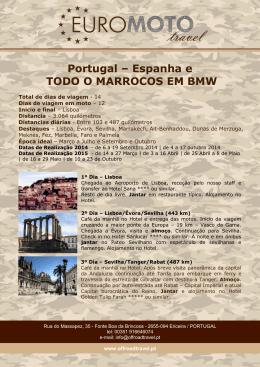 Portugal – Espanha e TODO O MARROCOS