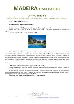 MADEIRA FESTA DA FLOR 06 a 09 de Maio