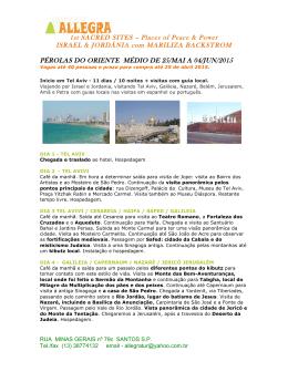 pérolas do oriente médio de 25/mai a 04/jun/2015