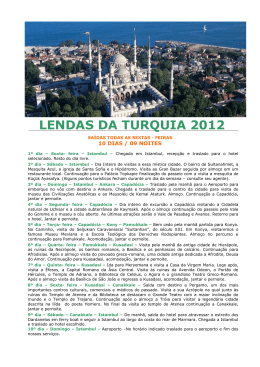LENDAS DA TURQUIA 2012