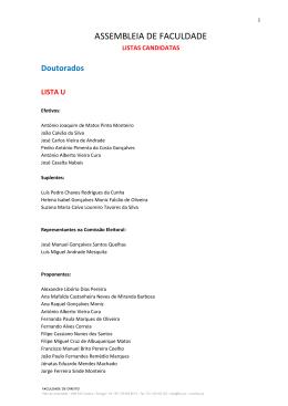 Listas Candidatas
