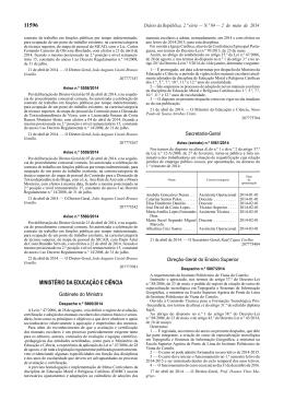 Despacho n.º 5806/2014, de 2 de maio - Direção