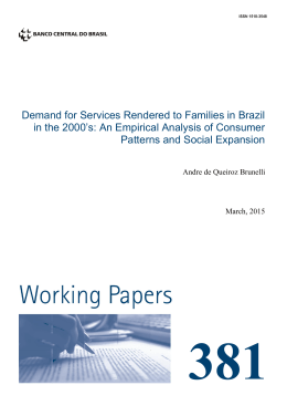 Demand for Services Rendered to Families in Brazil in the 2000`s