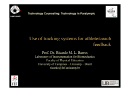 Use of tracking systems for athlete/coach feedback