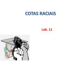 COTAS RACIAIS