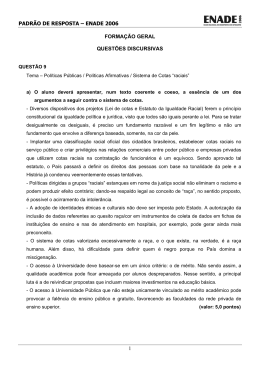 2006 Formacao geral – PADRAO DE RESPOSTA