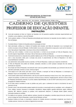 ED15 PROF DE EDUCACAO INFANTIL