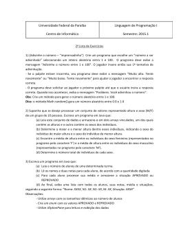 Exercícios02 - Universidade Federal da Paraíba