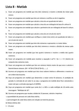 Lista 8 - Matlab