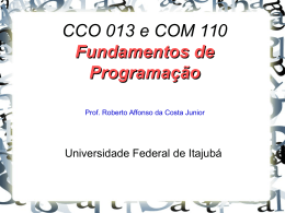 Aula 9 - Prof. Roberto Affonso da Costa Junior