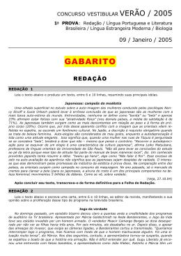 Gabarito - 1º dia