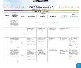 Planejamento Anual Dom Bosco