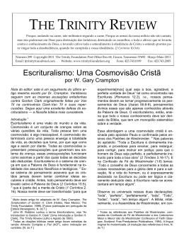 Escrituralismo: Uma Cosmovisão Cristã