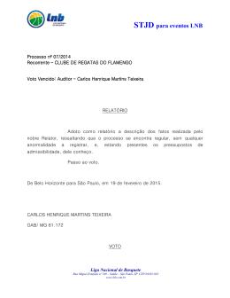 19/02/2015 STJD - Processo nº 07/2014 - Acórdão Voto