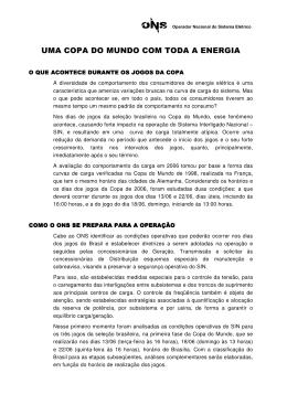 UMA COPA DO MUNDO COM TODA A ENERGIA