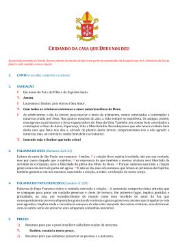 CUIDANDO DA CASA QUE DEUS NOS DEU